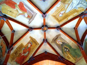 Four church fathers in the Stiftskirche St. Goar, Germany