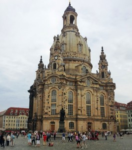 The rebuilt Frauenkirche in Dresden