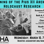 Webinar Announcement: The Opening of the Pius XII Archive and Holocaust Research