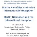 Conference Report: Martin Niemöller und seine internationale Rezeption – Martin Niemöller and his international reception